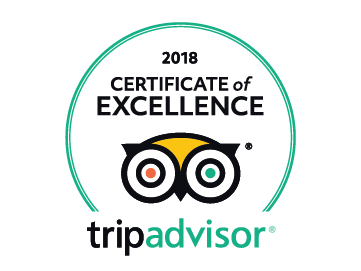 2018 Certificate of Excellence by Trip Advisor